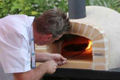 AD70 Amalfi Wood Fired Pizza Oven with Brick Front