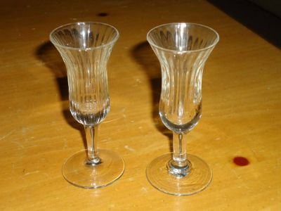 fluted cordial glasses