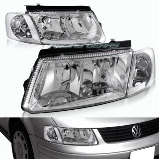 Find CHROME HOUSING CLEAR LENS HEAD LIGHTS + CORNER LAMPS FIT 97-00 VOLKSWAGEN PASSAT motorcycle in Walnut, California, United States
