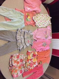 Mixed- onesies, shorts, tops