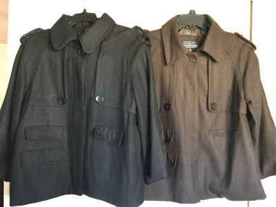 Size large 3/4 length jackets