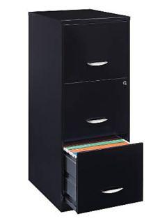 Black filing cabinet (+ 1 set of keys)