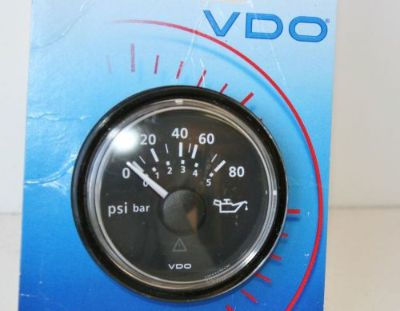 "Find NEW VDO A2C53191402 S Engine Oil Pressure 12VDC 2-1/16"" Gauge 80 psi Volvo Boat motorcycle in Daytona Beach, Florida, United States, for US $31.99"