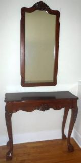 "Vintage Cherry Entry / Console 36"" Table & Mirror ~ Beauty!"