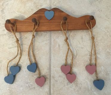 Wood Hanging w/Wood Hearts