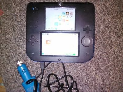 Nitendo 2ds with car charger