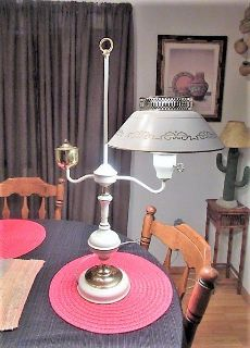 lamp tall medal and very nice