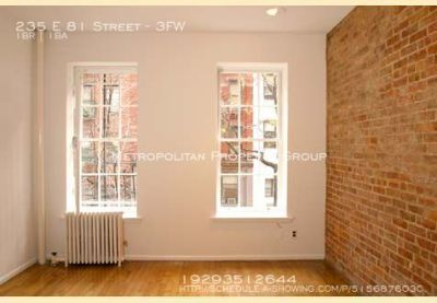 Upper East Side charming 1 Bedroom apartment that has exposed brick walls, high ceilings, and hardwood floors