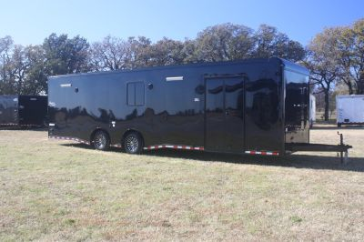 New 2018 32' Cont. Cargo Car Trailer w/Bath PKG