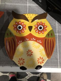 7.5 inch cute owl plate pd$8.99 for sale $3