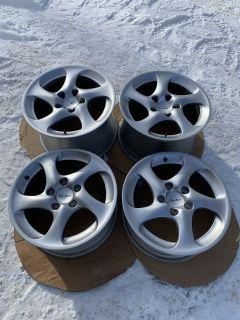 """18"""" OEM Porsche 996 Turbo Twist Wheels - Hollow Spoke - Like NEW"""