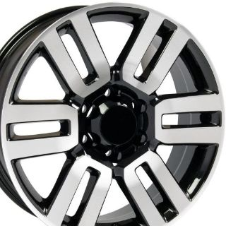 "Sell 20x7 Black Machined Face 4Runner Style Wheels Set of 4 20"" Rims Fit Toyota B1W motorcycle in Sarasota, Florida, United States, for US $605.00"