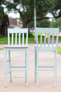 Set of Barstool Solid Wood Chairs