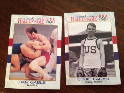 Olympic Wrestling/Boxing Cards