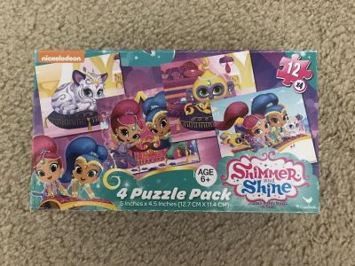 Shimmer and Shine Four Puzzle Pack