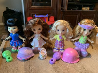 Fisher price snap on dolls, $6.50 each
