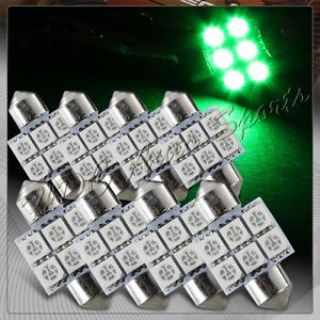 Sell 8x 31mm 6 SMD Green LED Festoon Dome Map Glove Box Trunk Replacement Light Bulbs motorcycle in Walnut, California, United States