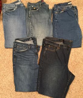 5 pairs size 16 jeans(whole lot for $10)