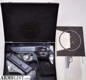 For Sale: EARLY GERMAN WALTHER PPK/S .22LR EAGLE/N NIB 1974 NEW IN BOX W/XTRA MAG, MANUAL & TEST TARGET