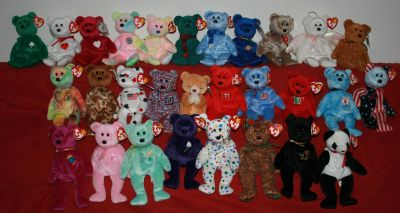 29 Collectible Ty Beanie Babie Bears Some Rare