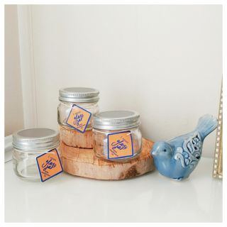 New! Set of 3 Chalkboard Lid Jars - Perfect for Spices