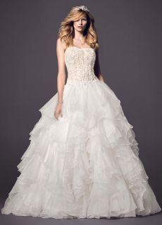 $999, Stunning Oleg Cassini ball gown wedding dress with corset back BRAND NEW NEVER WORN