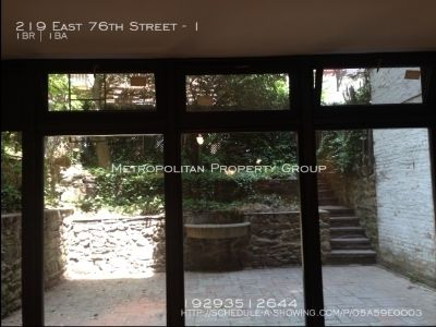 Upper East Side - 1 Bedroom with Private Backyard & Fireplace;  Duplex