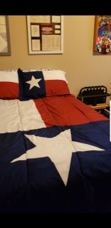 Full size Texas Bedspread and pillow shams