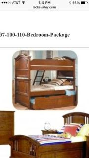 NEW cedar twin bunk beds INCLUDES MATTRESSES - from LACKS