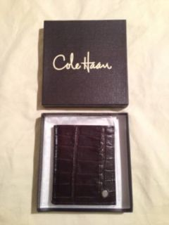 Cole Haan Leather Crocodile Wallet