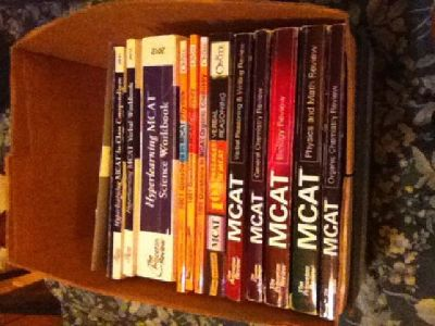 MCAT books (used) and audio CDs