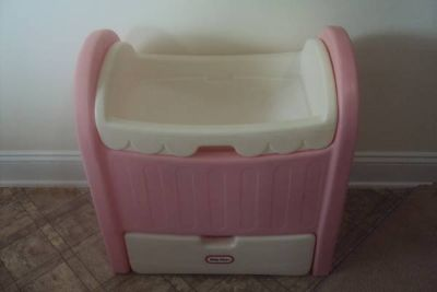 Little Tikes Doll Cradle / Changing Table - Pink & White