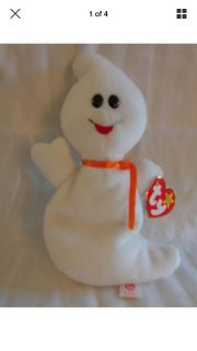 1995 Retired TY Beanie Baby 'Spook' The Ghost - Style 4090