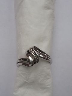 Sterling ring, missing stones, size about 6.5