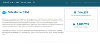 Buy Custom-Built Salesforce Customer List from Installed Base