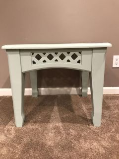 Lattice Accent End Table