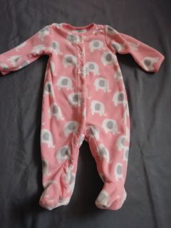 EUC Carter's fpeece footed pajamas size 3 months P/U ONLY