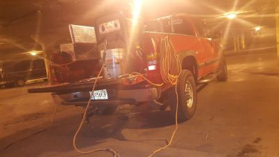 chevy work truck with sa 200 welder on it