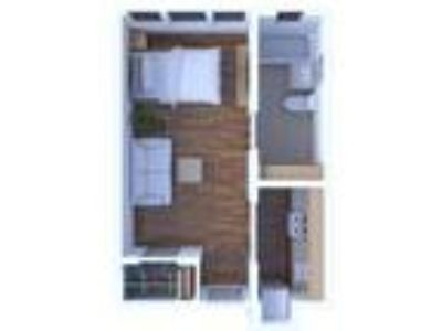 Campus Court Apartments - Studio Floor Plan S1