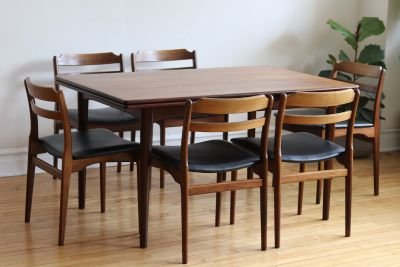 Mid Century Danish Rosewood Multi-Toned Dining Set