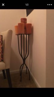 Vintage candle stand (with candles)