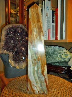 Exceptionally Beautiful Massive in Size Green Onyx Obelisk