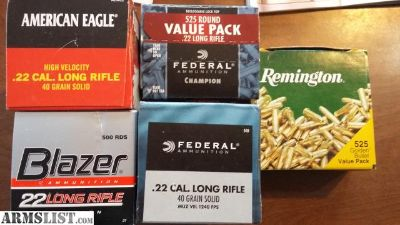 For Sale: 22LR ammo variety