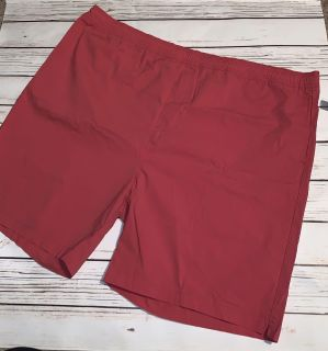 NWT Old Navy men board shorts salmon red elastic waist, Size 3XL
