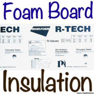 Foam Insulation Boards. - Rated