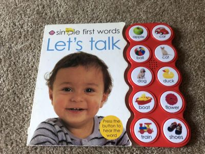 First words with matching buttons that talk