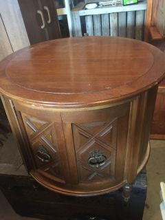 1960 s Round End Table