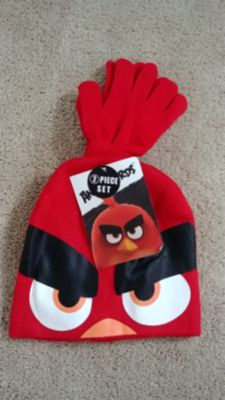 NEW Kid's Angry Birds Winter Hat & Glove Set