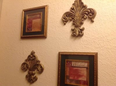 Wall Decorations all purchased from Hobby Lobby