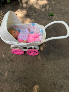Doll stroller and doll